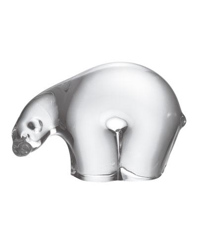 Small Glass Polar Bear