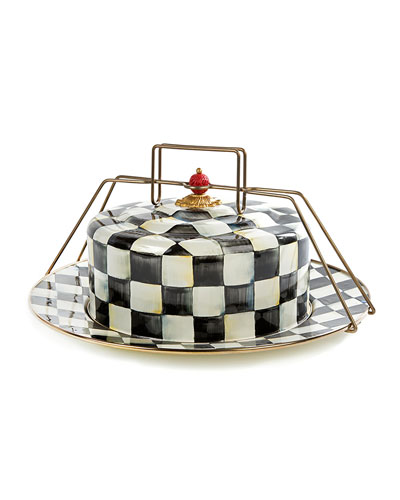 Courtly Check Cake Carrier
