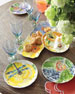Set of 4 Assorted Bloomers Dessert Plates