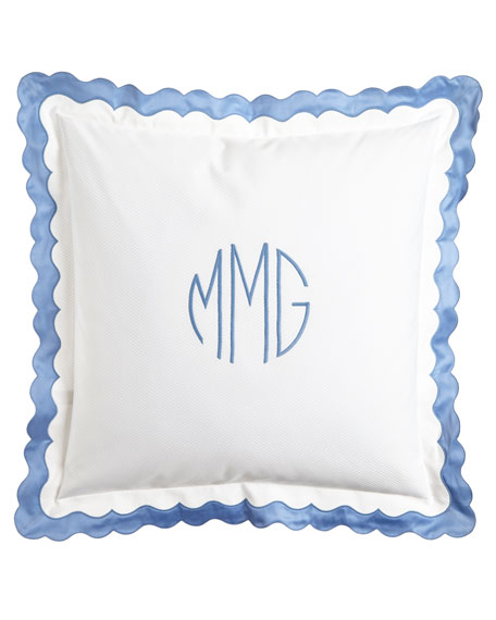 European Paloma Pique Sham with Monogram