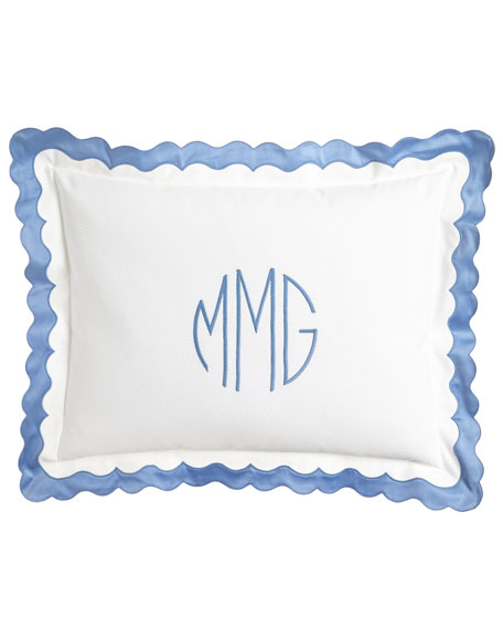 King Paloma Pique Sham with Monogram