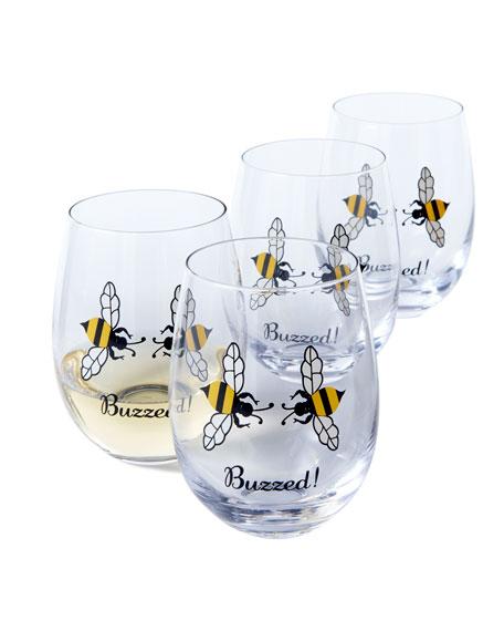 Buzzed! Wine Glasses, Set of 4