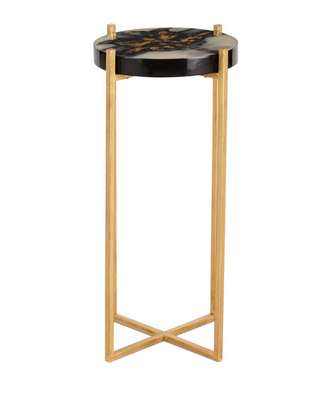 Noir Golden Side Table