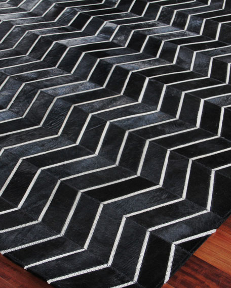 """Forbes Hairhide Rug, 9'6"""" x 13'6"""""""