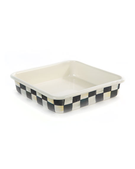 "Courtly Check Baking Pan, 8"" Square"