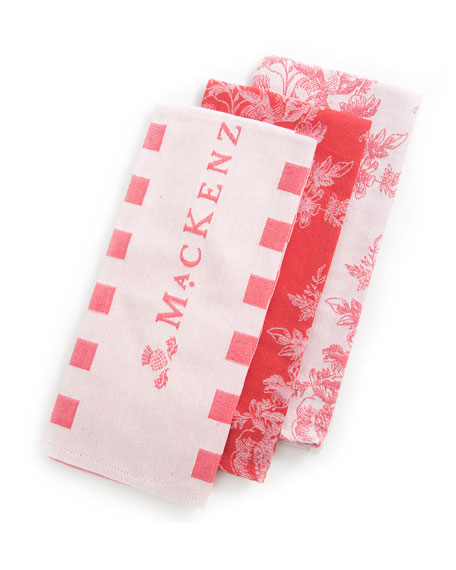 Wild Rose Dish Towels, Set of 3