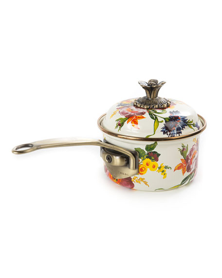 MacKenzie-Childs Flower Market 1-Quart Saucepan