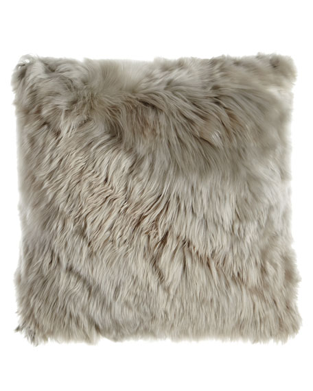 Gray Alpaca Pillow, 20