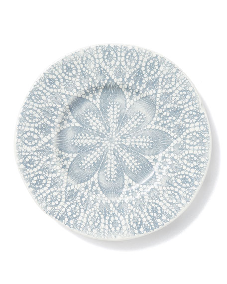 Lace Gray Salad Plate
