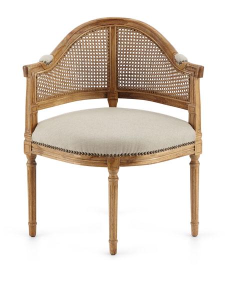 Cane Corner Accent Chair