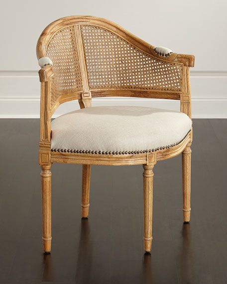 Cane Corner Accent Chair