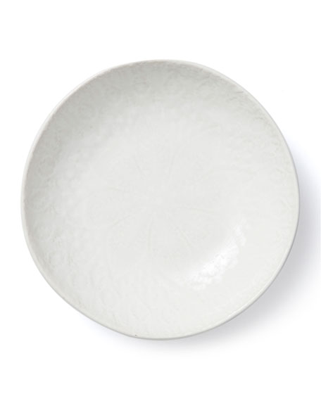 Lace White Pasta Bowl