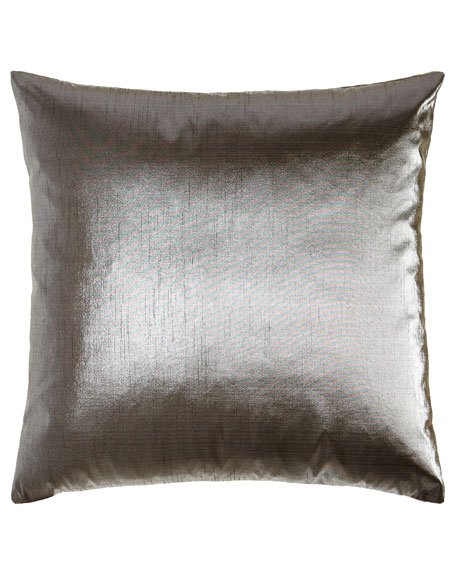 "Metaux Pewter Pillow, 22""Sq."