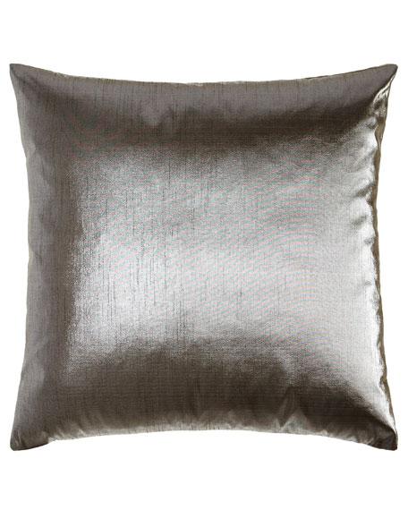 """Metaux Pewter Pillow, 22""""Sq."""