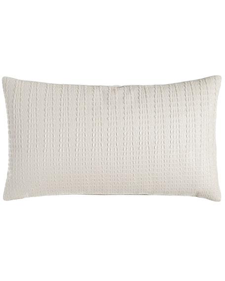 """Saltwater Croc"" Faux-Leather Pillow, 14"" x 24"""