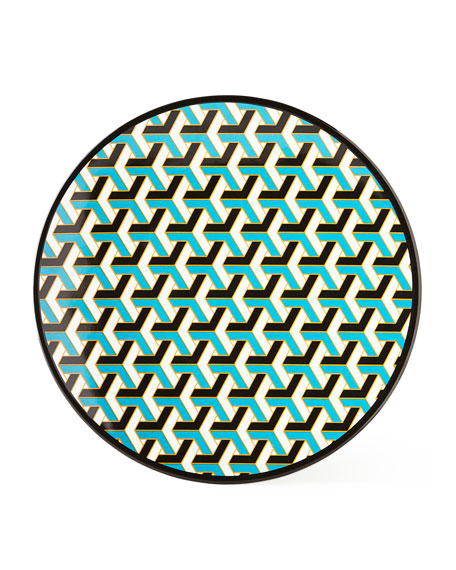 Blue Mykonos Melamine Dinner Plate