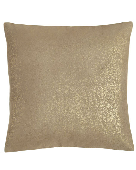 "Opal Essence Metallic Leather Pillow, 16""Sq."