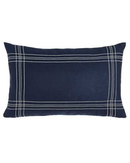 Nautical Decorative Pillow, Blue/White