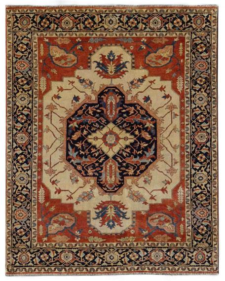 Exquisite Rugs Elora Antique Serapi Rug, 10' x