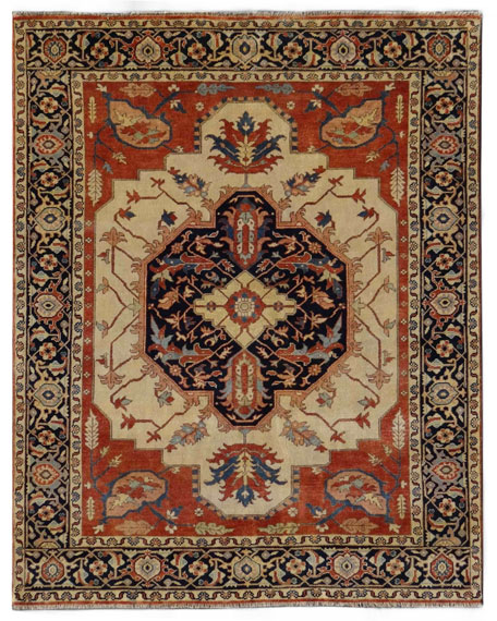Exquisite Rugs Elora Antique Serapi Rug, 12' x