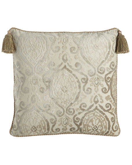 Chateau European Sham with Tassels, Oyster