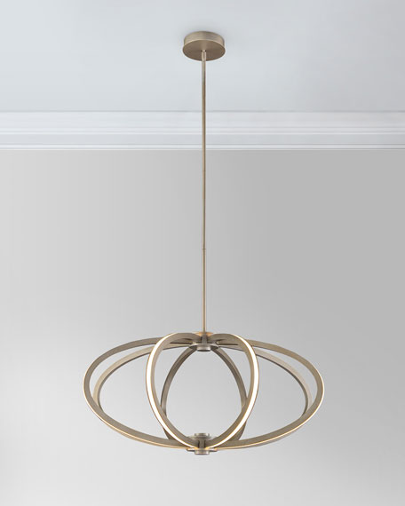 Illuminated Rings LED 8-Light Pendant