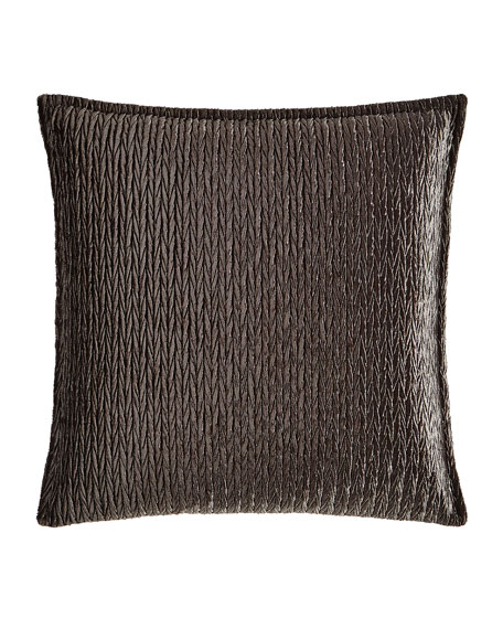 "Sterling Braid Velvet Pillow, 20""Sq."