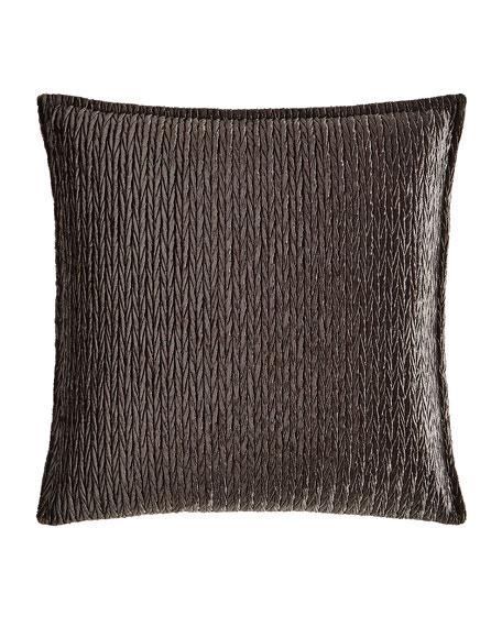 """Sterling Braid Velvet Pillow, 20""""Sq."""