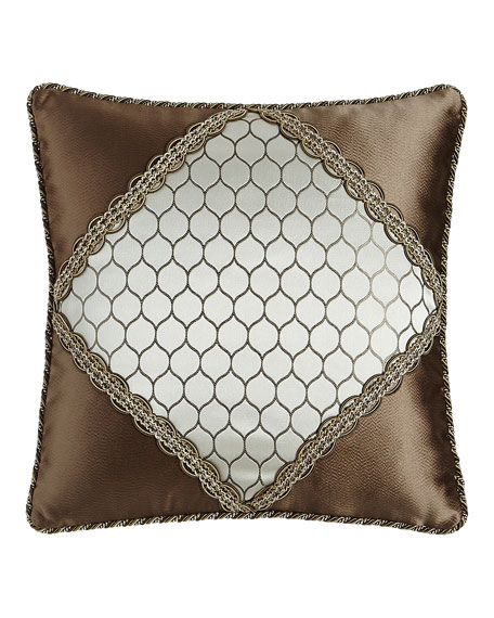 "Sterling Diamond-Center Pillow, 18""Sq."