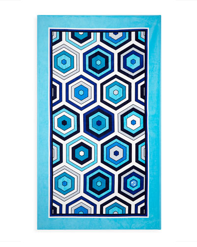Honeycomb Beach Towel- Blue