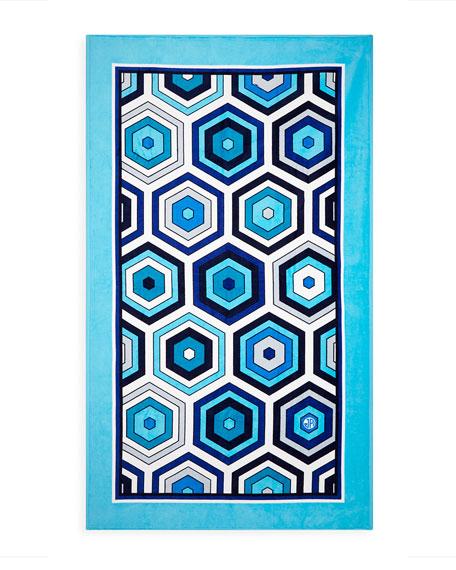 Honeycomb Beach Towel, Blue