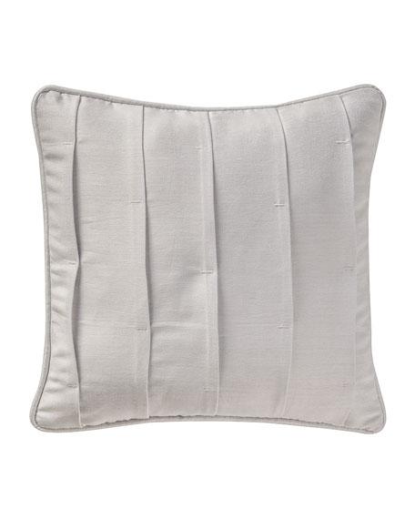 "Sophia Pleated Pillow, 16""Sq."