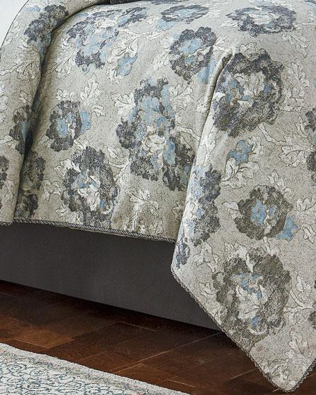 Queen Blossom Pewter 4-Piece Comforter Set