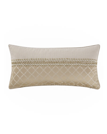 "Britt Pieced Pillow, 11"" x 22"""