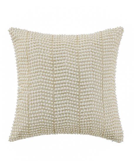 """Britt Beaded Pillow, 14""""Sq."""