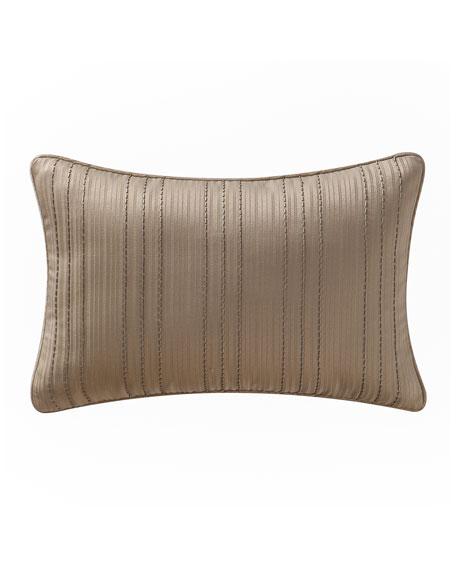 "Chantelle Beaded Stripe Pillow, 12"" x 18"""