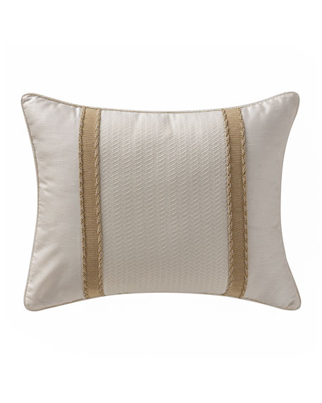 "Chantelle Ribbon-Trim Pillow, 16"" x 20"""