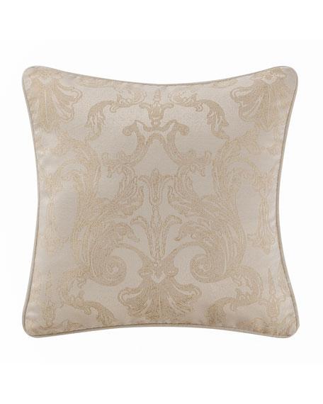"Britt Scroll-Pattern Pillow, 18""Sq."