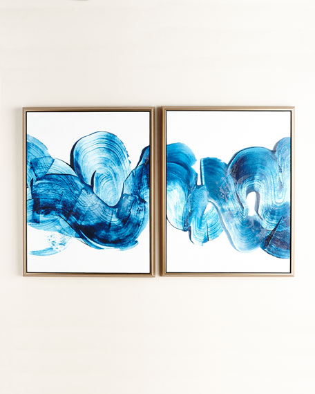 Outside Textured Painting, Set of 2
