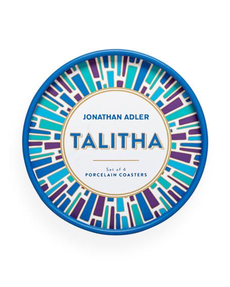 Talitha Porcelain Coasters, Set of 4