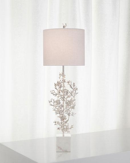 Silver Botanical Table Lamp