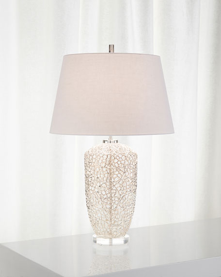 Silver Vines Table Lamp