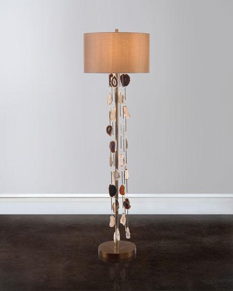 Falling Agate Floor Lamp