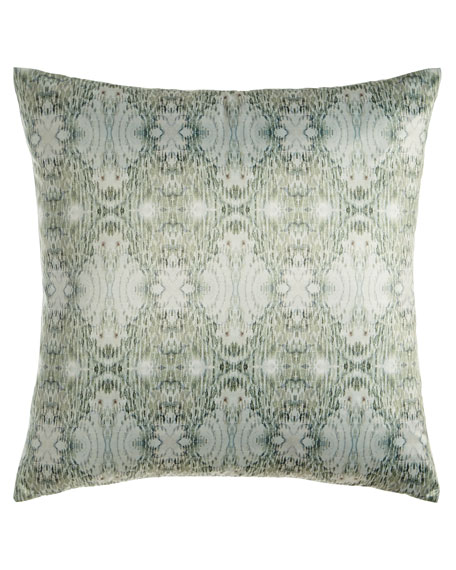 "Mint Persuasion Pillow, 23""Sq."