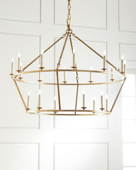 darlana large twotiered ring chandelier quick look visual comfort