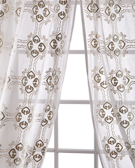 Frazer Cotton Organdy Curtain, 108""