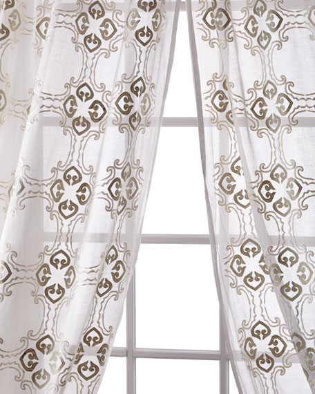 Frazer Cotton Organdy Curtain, 96