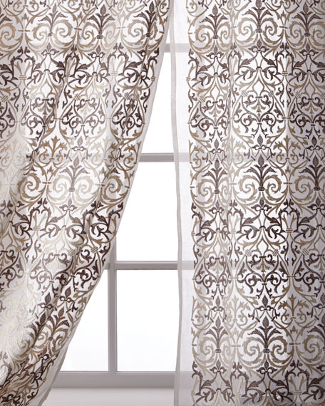 Abound Cotton Organdy Curtain, 96""