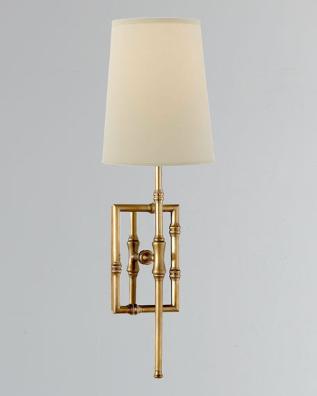 Grenol Single-Light Modern Bamboo Sconce
