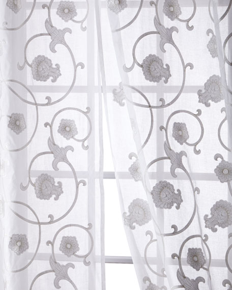 Carnation Cotton Organdy Curtain, 96""